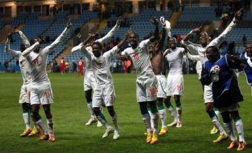 Senegal celebrate London 2012 Olympics football qualification with Lady Gaga dance