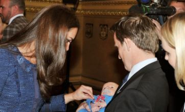 Caption comp: Kate Middleton admires baby ahead of wedding anniversary