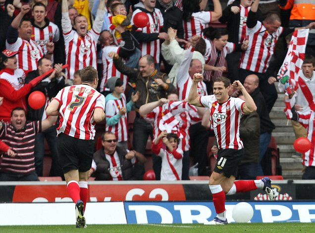 Billy Sharp Southampton v Coventry Premier League promotion