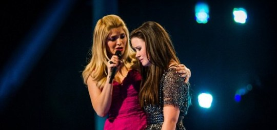 Holly Willoughby consoles Sophie Griffin following her exit on The Voice UK (Picture: BBC)