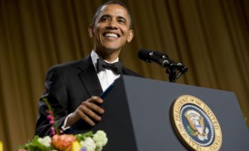 Obama jokes with Kim Kardashian and Lindsay Lohan at White House dinner