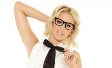 TOWIE's Lydia Bright shows Arg what he's missing in sexy secretary outfit