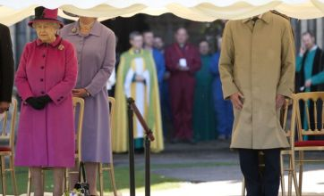 Prince Philip appears 'decapitated' during Wiltshire visit with the Queen
