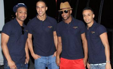 JLS touch down in Las Vegas ready for first leg of Marvin Humes' stag do