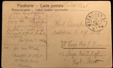 Poorly-spelled postcard by 27-year-old Adolf Hitler emerges