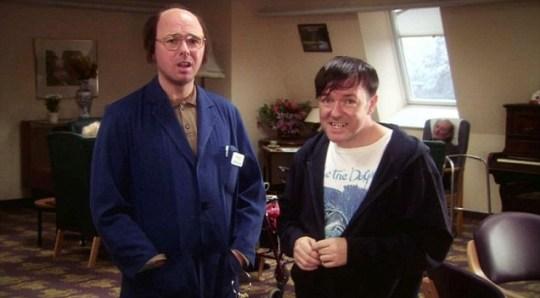 Ricky Gervais Karl Pilkington Derek