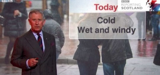 Prince Charles, weather, BBC, Scotland