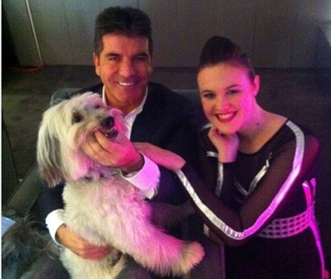 Simon Cowell and Ashleigh and Pudsey
