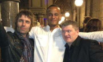 Liam Gallagher and Ricky Hatton join Man City players in title celebration