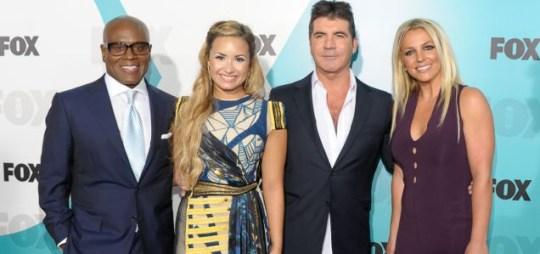 Britney Spears, Demi Lovato, LA Reid Simon Cowell, X Factor USA