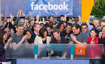 Mark Zuckerberg rings the bell on Facebook's $100bn flotation