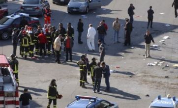 Girl, 16, killed after bomb explodes outside school in southern Italy
