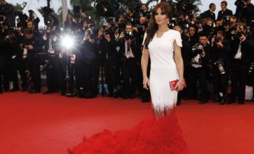 Cheryl Cole dazzles at Cannes Film Festival in white and red dress