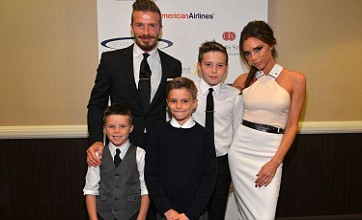 Beckhams leave Harper at home for Sports Spectacular family night out