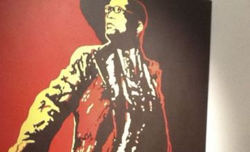 Two men attack painting of Jacob Zuma's genitals