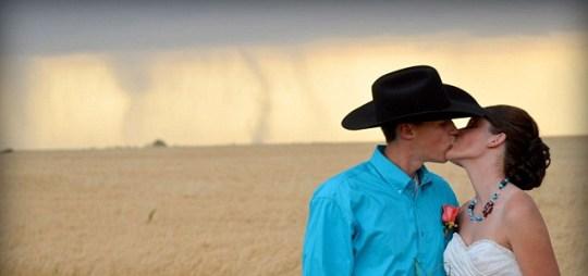 Weird wedding tornado Kansas