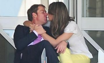 Liz Hurley gets loved up with Shane Warne at England v West Indies Test