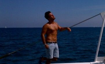 Made In Chelsea's Spencer Matthews shows off beach life on The Bachelor
