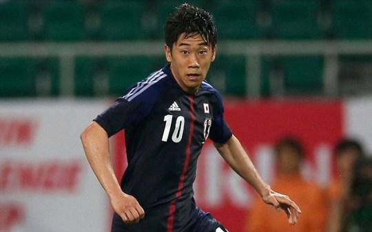 Japan's Shinji Kagawa