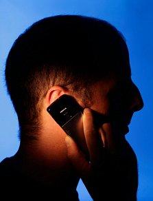 man, telephone