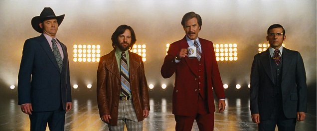 It's jean-creaming time! The Anchorman 2 news team tease the highly-anticipated sequel (Picture: YouTube)