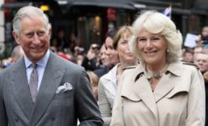 Prince Charles and the Duchess of Cornwall tucked into the Big Jubilee Lunch in Piccadilly (Getty)