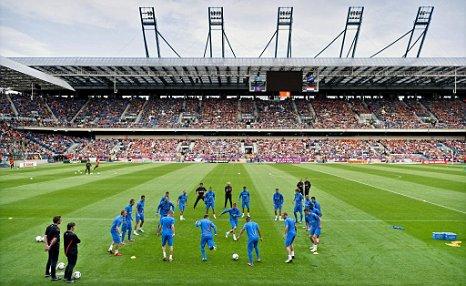 Holland training Euro 2012 Dutch the Netherlands Krakow