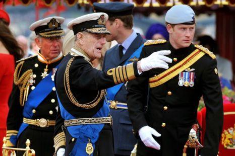 Prince Philip, Prince Charles, Prince William, Prince Harry