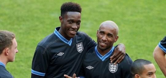 Danny Welbeck and Jermain Defoe of England