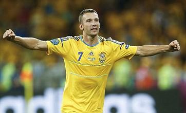 Ukraine's Andriy Shevchenko rolls back the years to sink Sweden