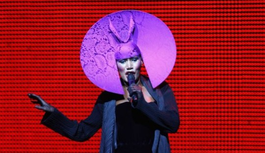 grace jones, headdress
