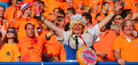 Holland fans at Euro 2012