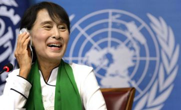 Aung San Suu Kyi urges European leaders to help her people be free
