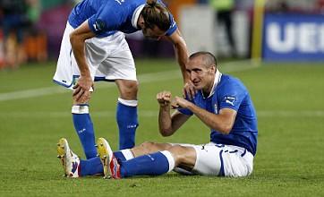 Italy sweat over Giorgio Chiellini injury ahead of England quarter-final clash