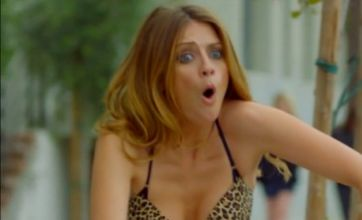 Mischa Barton chases Noel Gallagher in her bra and knickers in new video