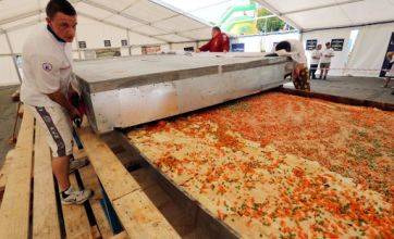 Italy honoured with world's largest lasagne at Euro 2012