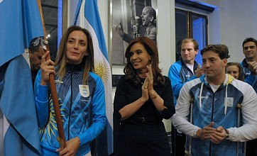 Argentine president rejects Falklands political protest at London 2012