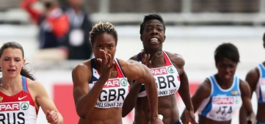 GB women's relay team, disqualified