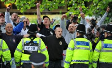 Sixteen arrests at English Defence League's Bristol march