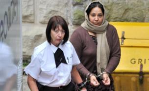 Farzana Ahmed (right) denies murdering her daughter Shafilea (PA)