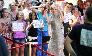 Naomi Watts transformed into Princess Diana on Caught In Flight set