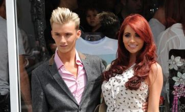 Amy Childs supports TOWIE's Harry at the launch of his new Essex boutique