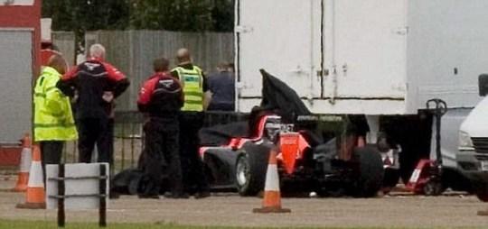 Marussia F1 crash