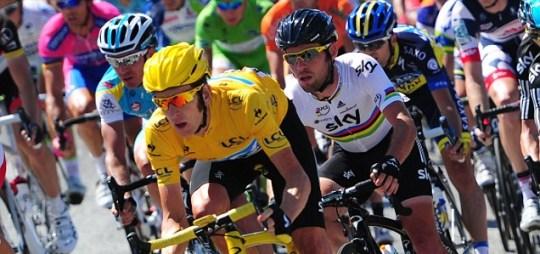 Tour de France cycling Bradley Wiggins Mark Cavendish