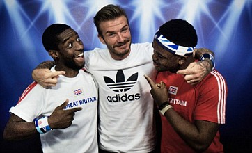 David Beckham pays 60 surprise visits to a London 2012 Olympic photo booth