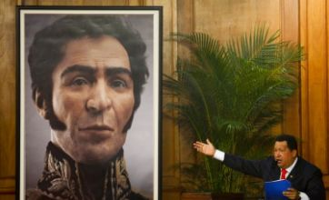 Hugo Chavez unveils 3D portrait tribute to Venezuelan freedom fighter