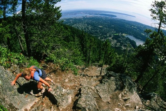 Grouse Grind, Grouse Mountain, North Vancouver, British Columbia, Canada