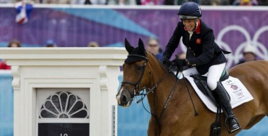 Mary King in the show-jumping phase of the equestrian eventing