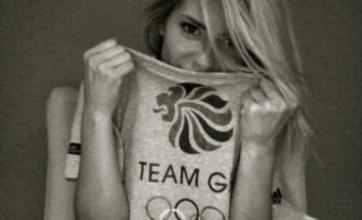 Mollie King sports patriotic nightie in support of Team GB