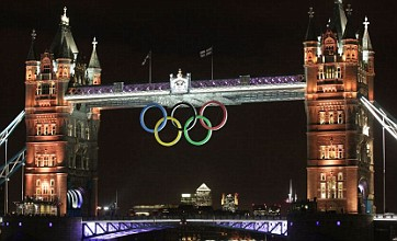 Tower Bridge lights up for Britain's golden Olympians